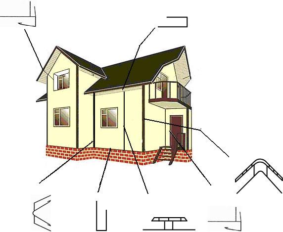 Монтаж пластикового блок хауса